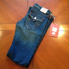 True religion jeans NWT Brand new with tags (NWT). Very cute!! 7.5 inch rise and 33.5 inch inseam True Religion Jeans