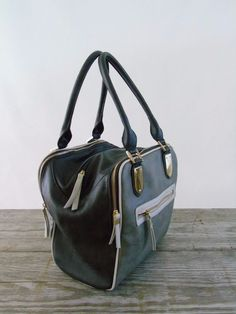 LaTique Women Handbag Golden Hardware Mouse Asphalt Gray Roomy Satchel Tote Bag  #LaTique #Satchel
