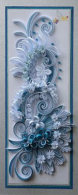 neli: Quilling card - flowers ( 9 cm - 20 cm ) I could have a whole board for Neli Beneva's quilling!!