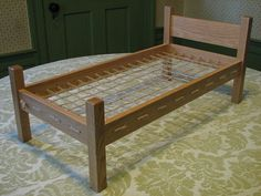 Rope Bed for 18 inch Doll American Girl Dolls by bevwhitbeck, $85.00