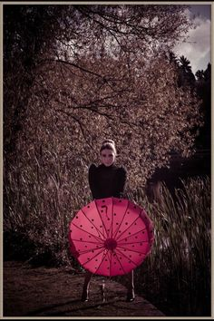 red and black button ish moon umbrella 4295 from http