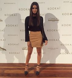 "monika.clarke: ""Head to toe in @kookai_australia for tonight's #kookaiaw16 show"""