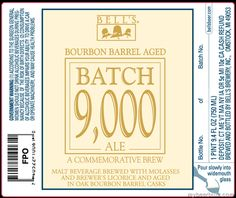Bell's Brewery–Bourbon Barrel Aged Batch 9,000 Ale