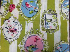 Beautiful Birds Home Decor Fabric