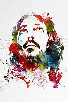 Wall Art Art Canvas Print Watercolor Jesus by ExtraLargeWallArt Canvas Wall Art Quotes, Large Canvas Wall Art, Extra Large Wall Art, Canvas Prints, Christian Artwork, Christian Posters, Christian Paintings, Jesus Christ Painting, Jesus Drawings