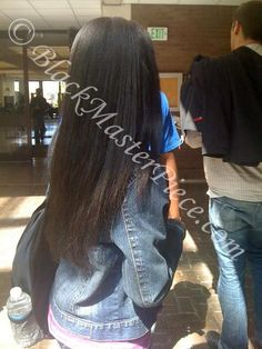 WL Natural hair straightened #blackhair #bhi
