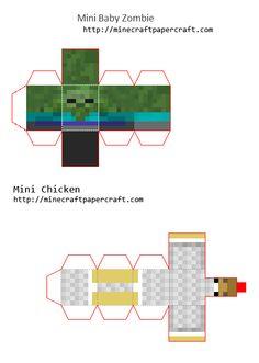 Papercraft Mini Chicken Jockey