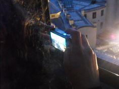 Taking a picture @ Powder Tower, Prague, Czech Republic, Aug. 2011