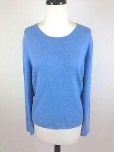 Charter Club Sweater Womens Blue Cashmere Long Sleeve XL | Long ...