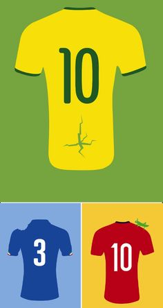 Iconic moments from the 2014 World Cup in Brazil.