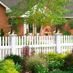 Need A Curved White Vinyl Picket Fence Coolest Thing On