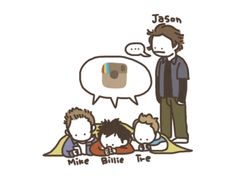 Green Day... hahaha aww and then there's Jason XD