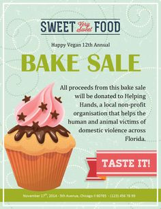 22 best bake sale flyers images on pinterest bake sale flyer vegan annual bake sale bake sale flyer cupcake template church fundraisers fundraising events maxwellsz
