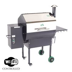 Wifi Enabled Grills controlled and monitored from your smartphone or tablet.  The Green Mountain Grill (or GMG) are the latest and greatest in BBQ Technology.  Slow Cook, Smoke, Bake a Pizza, Sear a Steak.  You can do it all on this must have Pellet Grill.