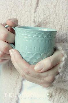 pretty aqua mug