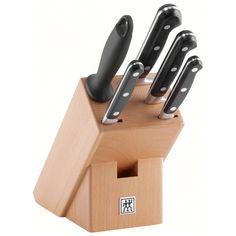 Набор ножей 5 пр, в подставке, Professional SНожи: овощной, универсальный, для нарезки, поварской; мусат; подставка (дерево).