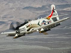 Douglas A -1H (USN) Skyraider. Awesome warbird used from WWII to Vietnam