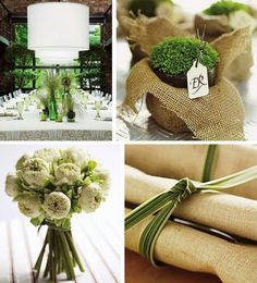 Finishing touches - in place of a napkin ring wrap the napkins with a reed, leaf, grass or herb
