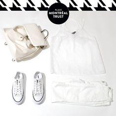 #PMTLook  Cette #saison, le #blanc est à l'honneur. #VEROMODA #LittleBurgundy #OOTD #Shopping #Mtl #PMT