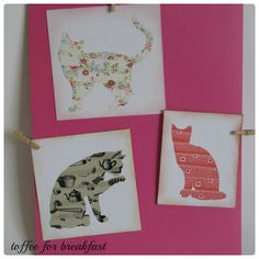Kitty cat washi tape silhouettes I love to make