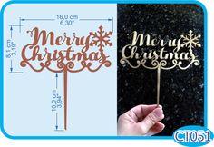 Merry Christmas Cake Topper. -Pedidos/InquirIes to: crearcjs@gmail.com