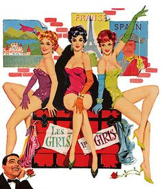 """Les Girls"". It starred Gene Kelly, Mitzi Gaynor, Kay Kendall, and Taina Elg."