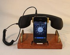 Iphone Dock - Phone - Ipod Dock - Phone - Charger And Sync Station - Coiled Wire…