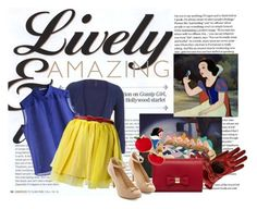 """""""Snow White"""" by disneygirl2820 on Polyvore featuring MSGM, INDIE HAIR and Mulberry"""