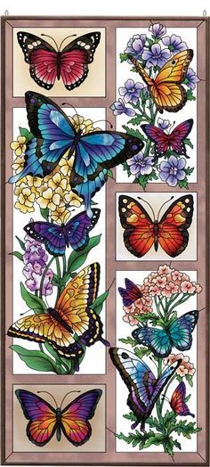 Art Panel-APM618R-Butterfly Menagerie - Butterfly Menagerie