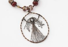 Wire Lady Pendant Necklace