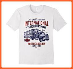 Mens International Trucking Show Retro T-Shirt Medium White - Retro shirts (*Partner-Link)