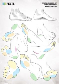 Human Figure Drawing Reference simplified anatomy 12 - feets by mamoonart - Human Figure Drawing, Figure Drawing Reference, Body Reference, Art Reference Poses, Anatomy Reference, Feet Drawing, Body Drawing, Drawing Tips, Drawing Faces