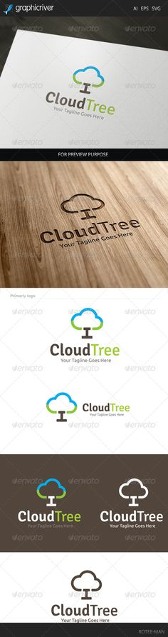 Cloud Tree - Logo Design Template Vector #logotype Download it here: http://graphicriver.net/item/cloud-tree-logo/7940538?s_rank=698?ref=nesto