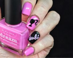 These are a simple bow design i painted a nice light lavender tips and topcoat barbie nail art prinsesfo Images
