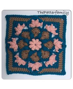 How to Crochet a Granny Square Pattern #10 │by ThePatterfamily