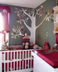 What if...there was a tree in the corner of the bedroom that reached up the ceiling and then had woodland creature mobile hanging over the crib.