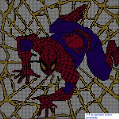 grille gratuite - Le blog de 7 à la maison, point de croix, tricot, grilles gratuites... C2c, Le Point, Spiderman 3, Cross Stitch, Blog, Marvel, Comics, Fictional Characters, Couture