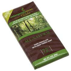 Endangered Species Rainforest Dark Chocolate 72 with Deep Forest Mint 3Ounce Bars Pack of 6 >>> Click image for more details.