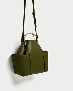 ZARA - WOMAN - BUCKET BAG WITH METAL HANDLES