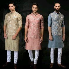 Party wear indowestern outfits for men Mens Wedding Wear Indian, Wedding Kurta For Men, Mens Indian Wear, Mens Ethnic Wear, Wedding Dresses Men Indian, Wedding Dress Men, Indian Men Fashion, Groom Fashion, Punjabi Wedding