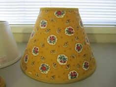 Pierre-Deux-Yellow-Ochre-Avignonet-French-Country-Toile-Lamp-Shade-Chandelier
