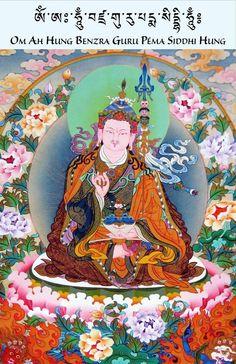 The Vajra Guru. Thangka Painting, Buddha Painting, Buddha Art, Buddhism Symbols, Tibet Art, Sutra, Vajrayana Buddhism, Wheel Of Life, Tibetan Buddhism