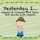 The cards in the bundle can help students who are working on regular and irregular past tense verbs. There are 60 cards in the bundle and each card has a clipart of the verb to assist younger students!