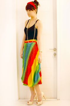 Rainbow cloth (skrit or dress)