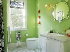 Fotos Baños Color Verde