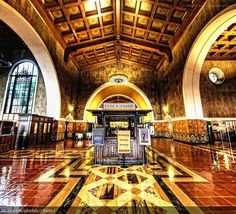 """Union Station in Los Angeles, which opened in May 1939, is known as the """"Last of the Great Railway Stations"""" built in the United States."""
