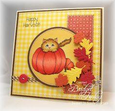 Pumpkin Kitty - Sweet N' Sassy Stamps - Bridget's Paper Blessings
