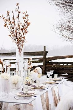 Every festive table needs a centerpiece, and a wedding table is no exception. If you are planning a winter wedding, what centerpiece would you choose?