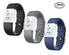 For Fitbit Charge 2 Bands TreasureMax 3PCS Replacement Band with Metal Clasp for Fitbit Charge 2 Band  Charge 2 Fitbit  Fitbit 2  Charge 2 Bands  Fitbit Charge 2 No Tracker >>> You can get more details by clicking on the image.