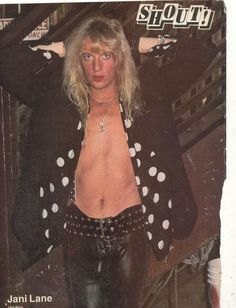 Jani Lane of Warrant Jani Lane, 80s Hair Bands, Glam Metal, 80s Music, Pretty Boys, Rock And Roll, Husband, Scissors, Singers